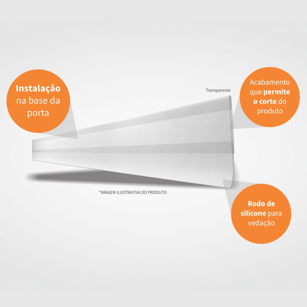 Veda Porta Transparente Comfort Door C/ Adesivo