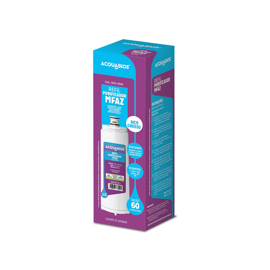 Filtro acquabios MFAZ   - Compatível master frio Rotulo Azul  - My Shop