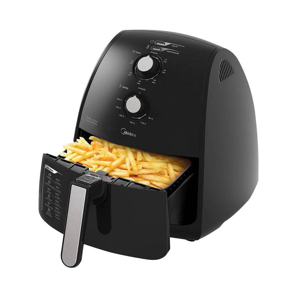 Fritadeira Air Fryer Midea Liva 4L tamanho Família - Preta  - My Shop