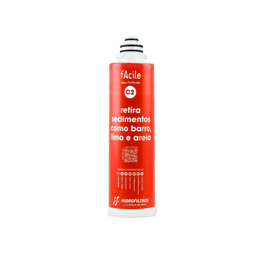 Refil purificador de água Hidrofiltros - Facile C2  - My Shop
