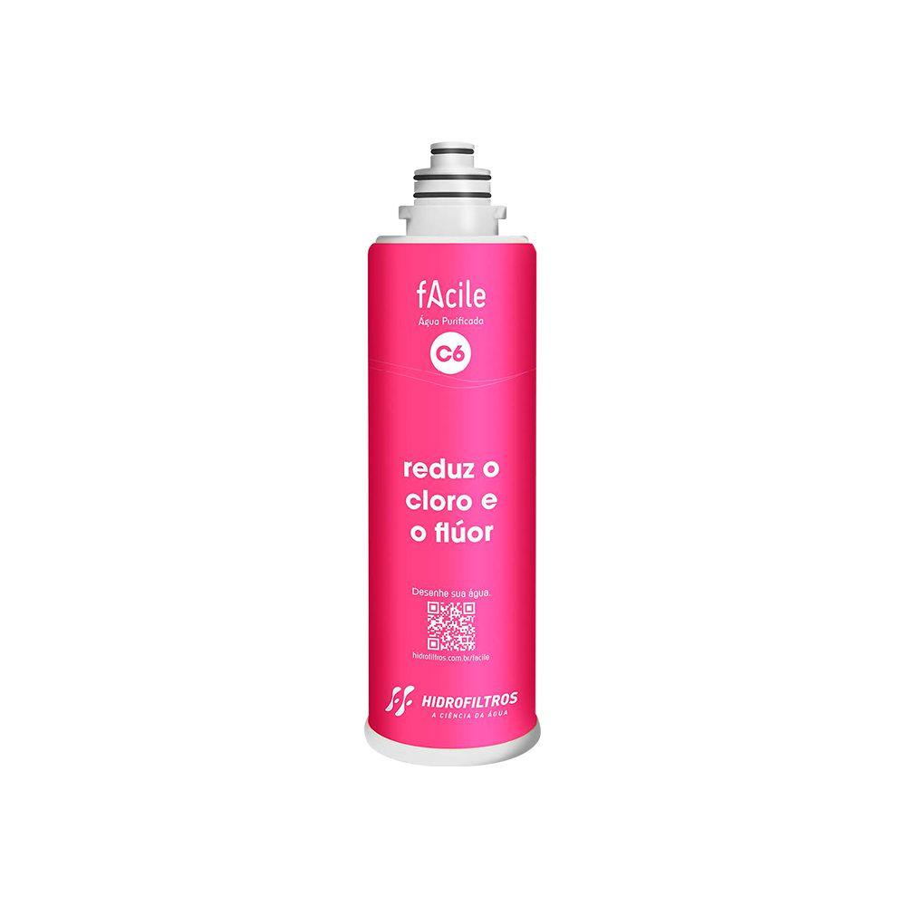 Refil purificador de água Hidrofiltros - Facile C6  - My Shop