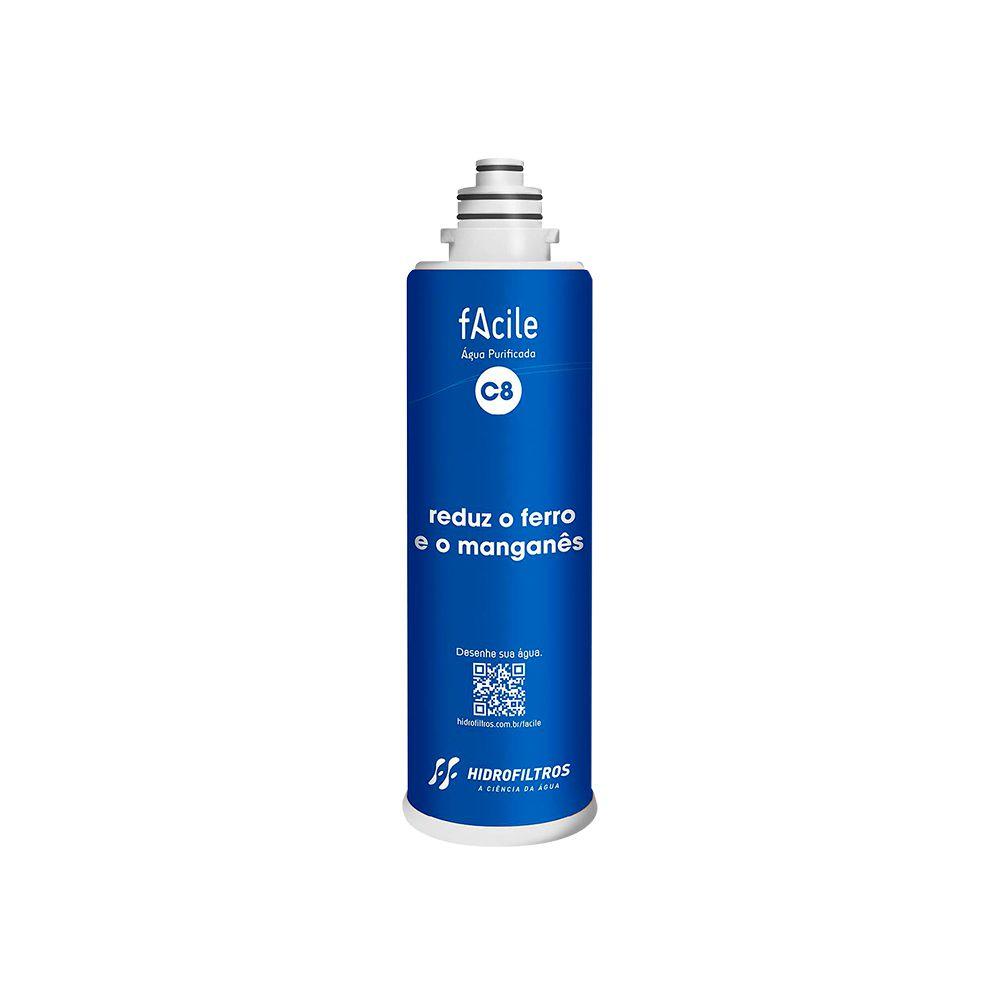 Refil purificador de água Hidrofiltros - Facile C8  - My Shop