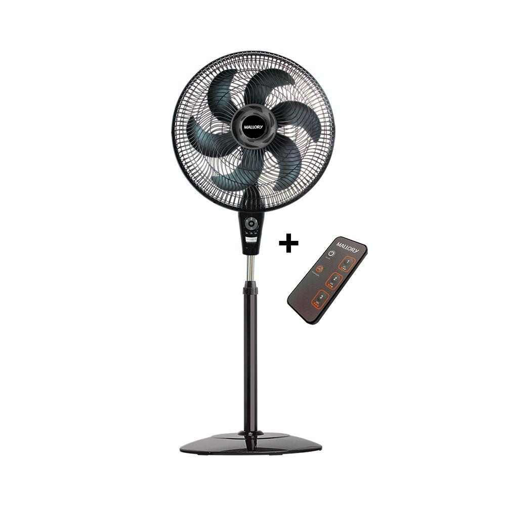 Ventilador de coluna Mallory Air Timer TS+ Preto/Grafite - Com controle remoto  - My Shop