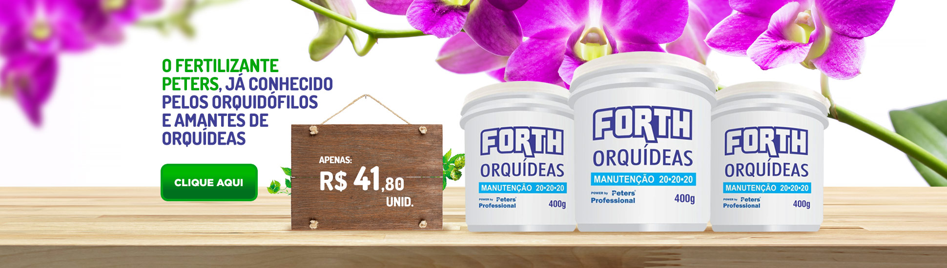 Forth Orquídeas Peter Profissional 400g