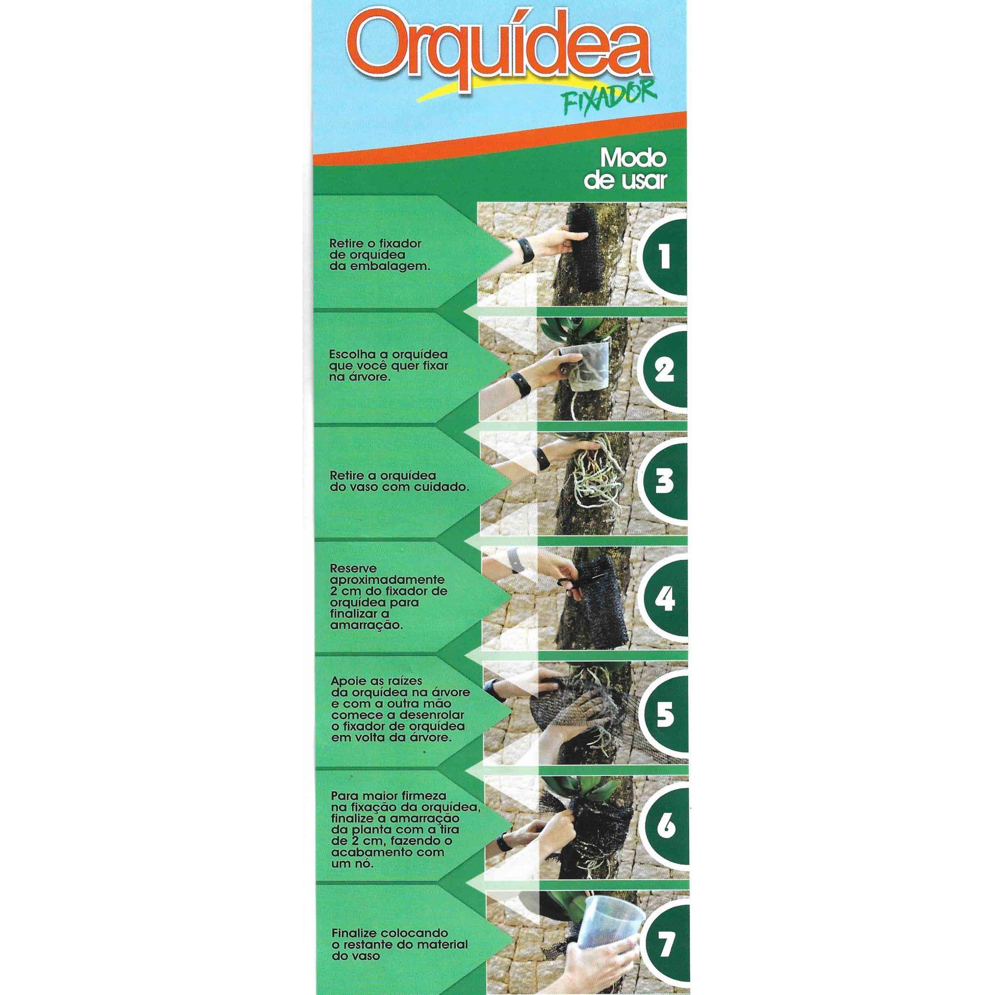Fixador Orquidea 18cm x 1,45m Top Garden