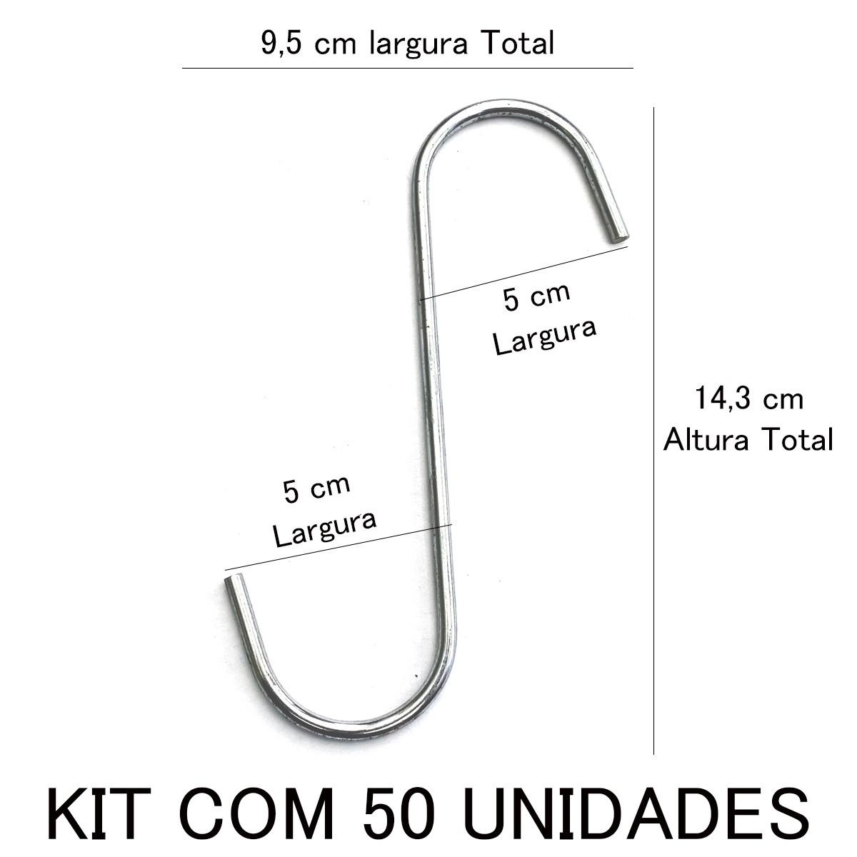 Gancho Cromado 4 x 145 c/ 50 unidades