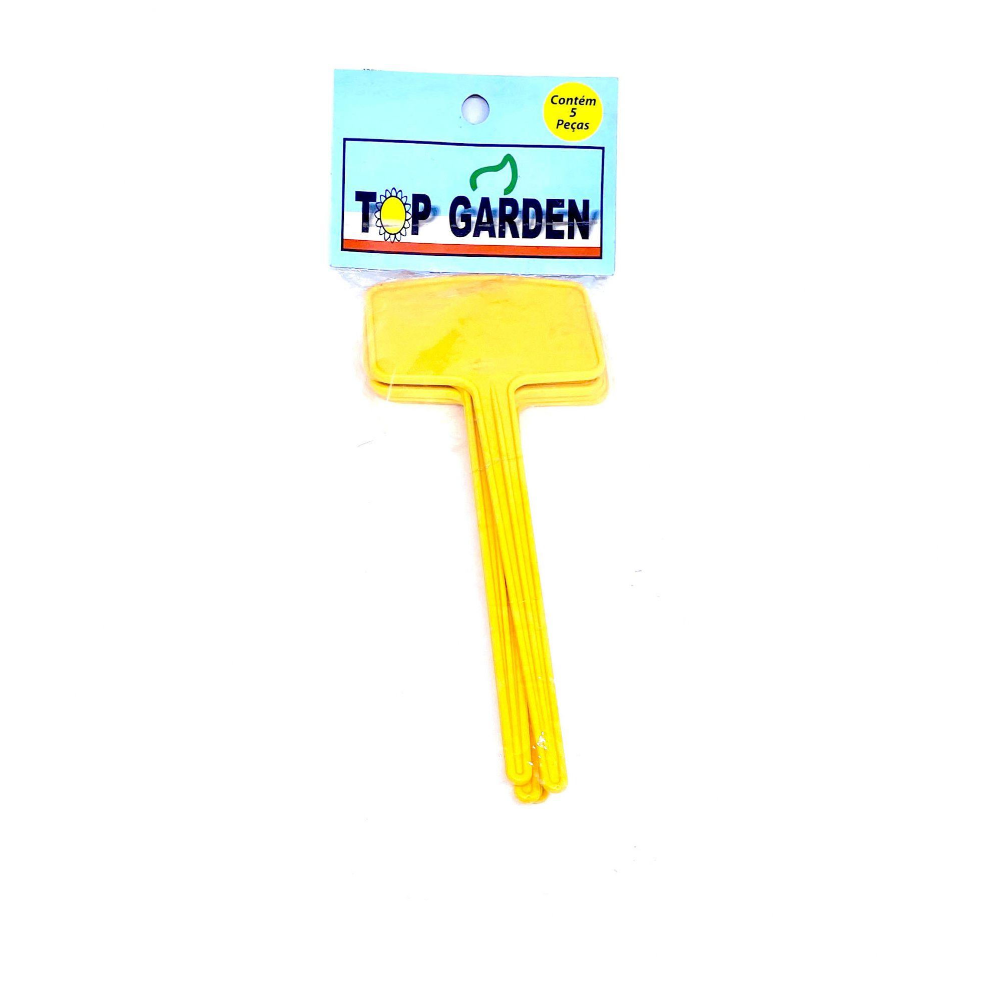 Identificador para Planta 19 x 7cm c/ 5 peças Top Garden