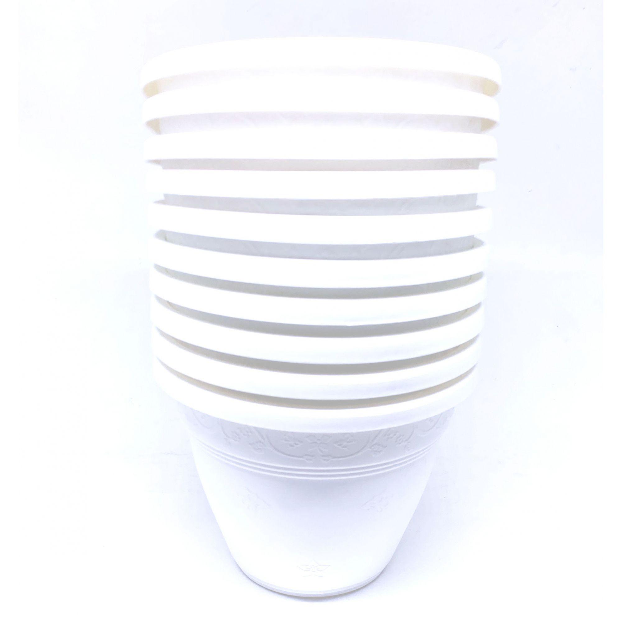 Kit C/10 Vaso de Parede Vicenza Pequeno Branco Pequeno 15 - DL