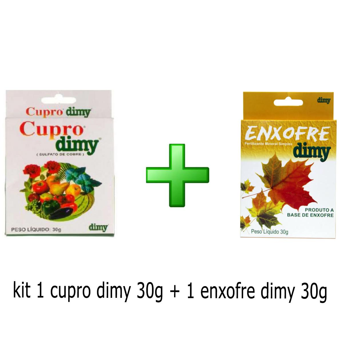 KIT 1 ENXOFRE DIMY 30G + 1 CUPRO DIMY 30G