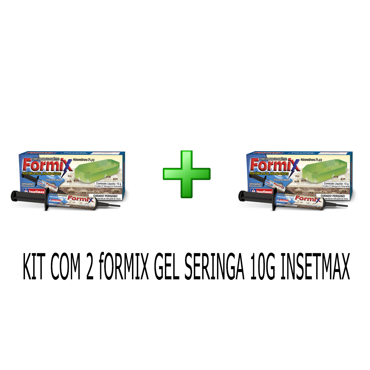 KIT 2 FORMIX GEL SERINGA 10GR INSETMAX