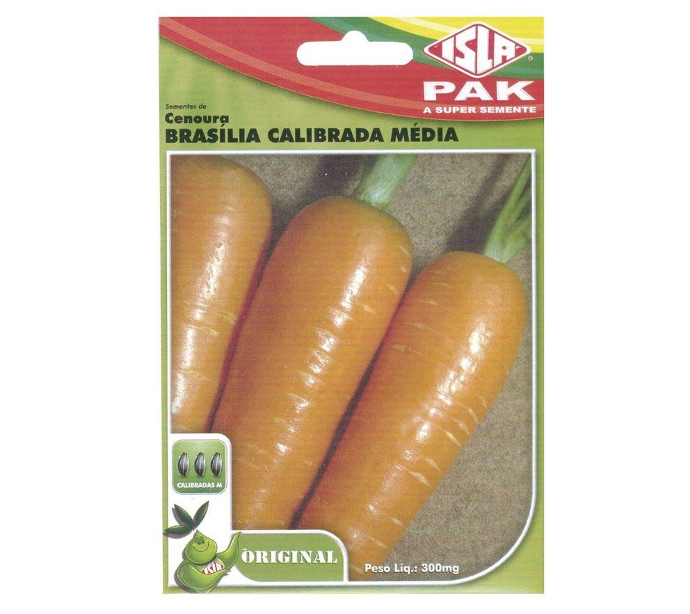 Semente de Cenoura Brasilia Calibrada Média 300mg - ISLA
