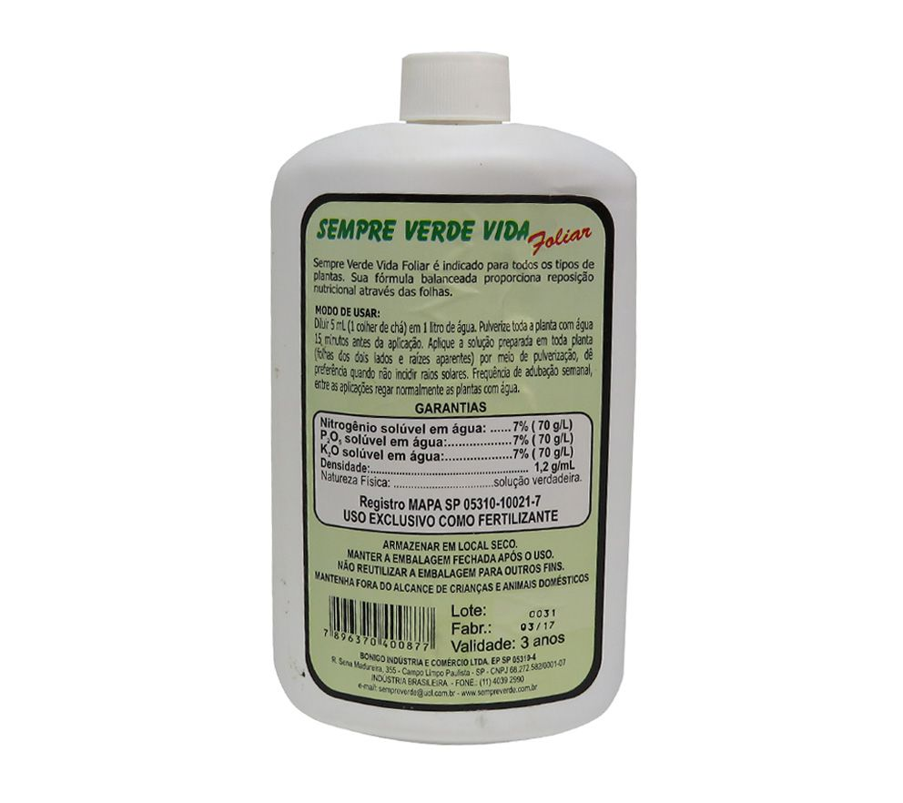 Sempre Verde Foliar 500ml