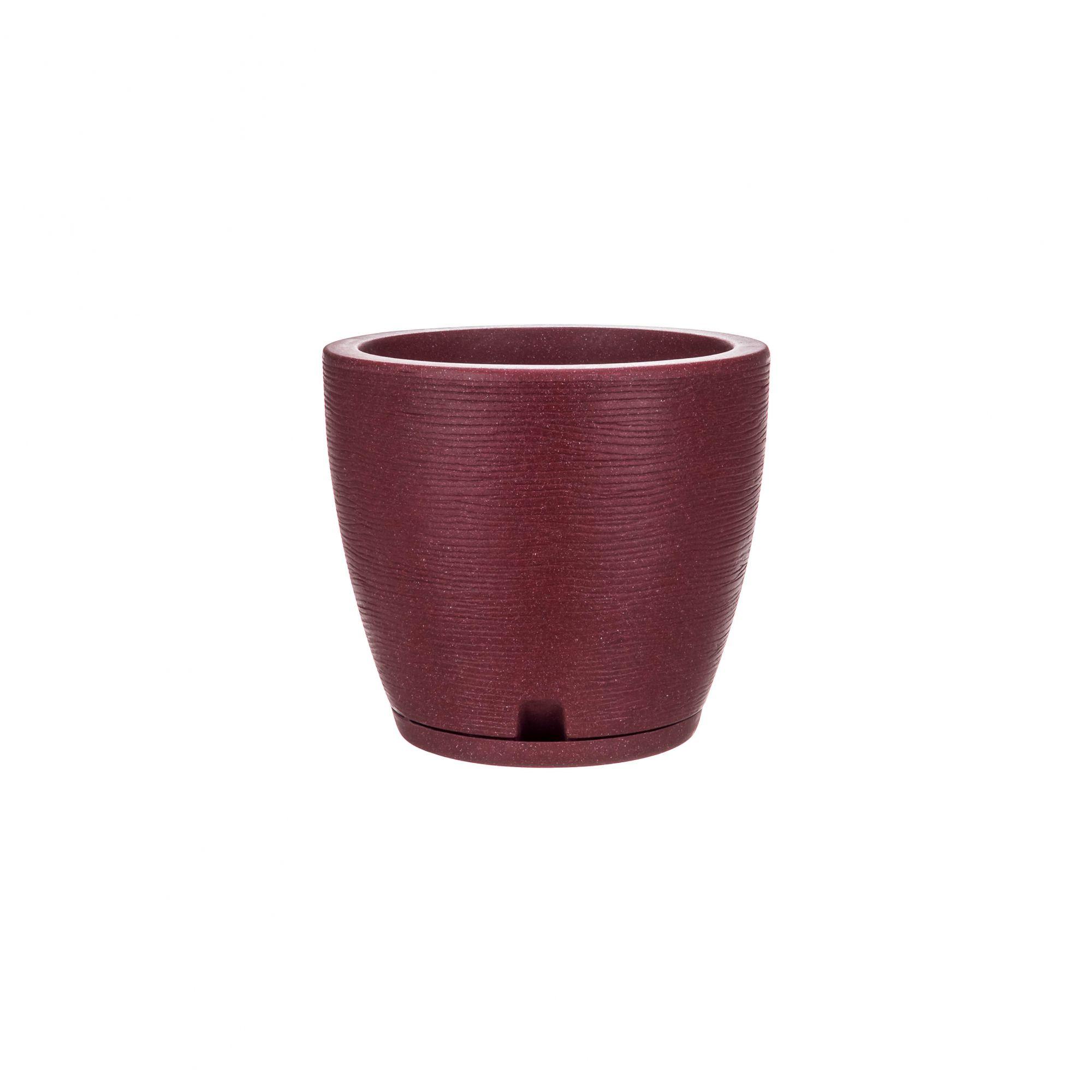 Vaso Amsterdã Grafiato Vinho Stone - 27 x 28 cm