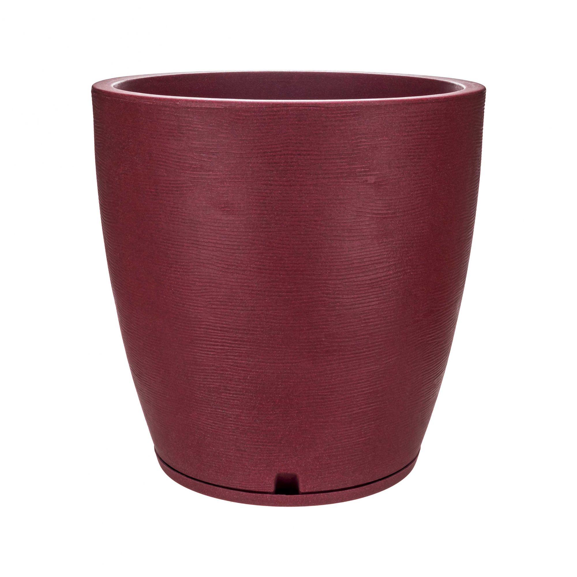 Vaso Amsterdã Grafiato Vinho Stone - 49 x 55 cm