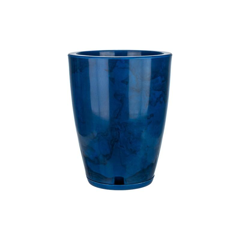 Vaso Amsterdã Marmorato Azul - 29 x 44 cm