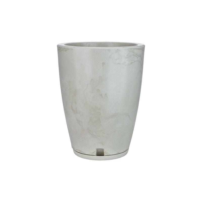 Vaso Amsterdã Marmorato Branco - 29 x 44 cm