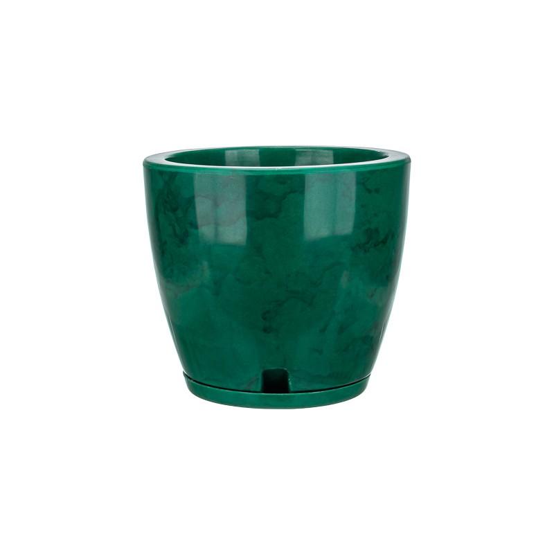 Vaso Amsterdã Marmorato Verde - 27 x 28 cm
