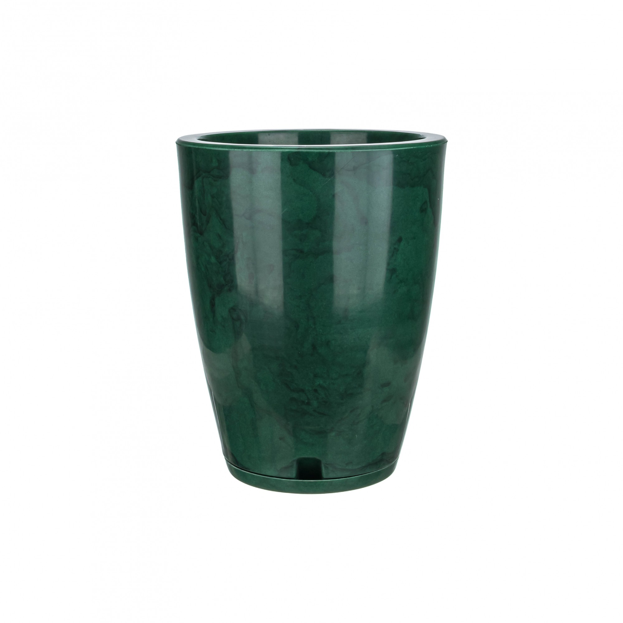 Vaso Amsterdã Marmorato Verde - 29 x 44 cm