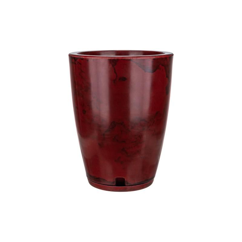 Vaso Amsterdã Marmorato Vermelho - 29 x 44 cm