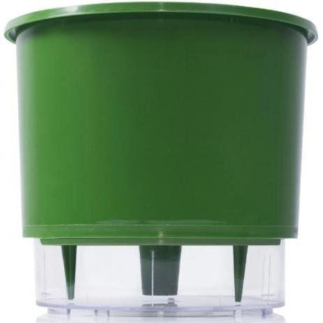 Vaso Autoirrigável 3 Verde Escuro Raiz
