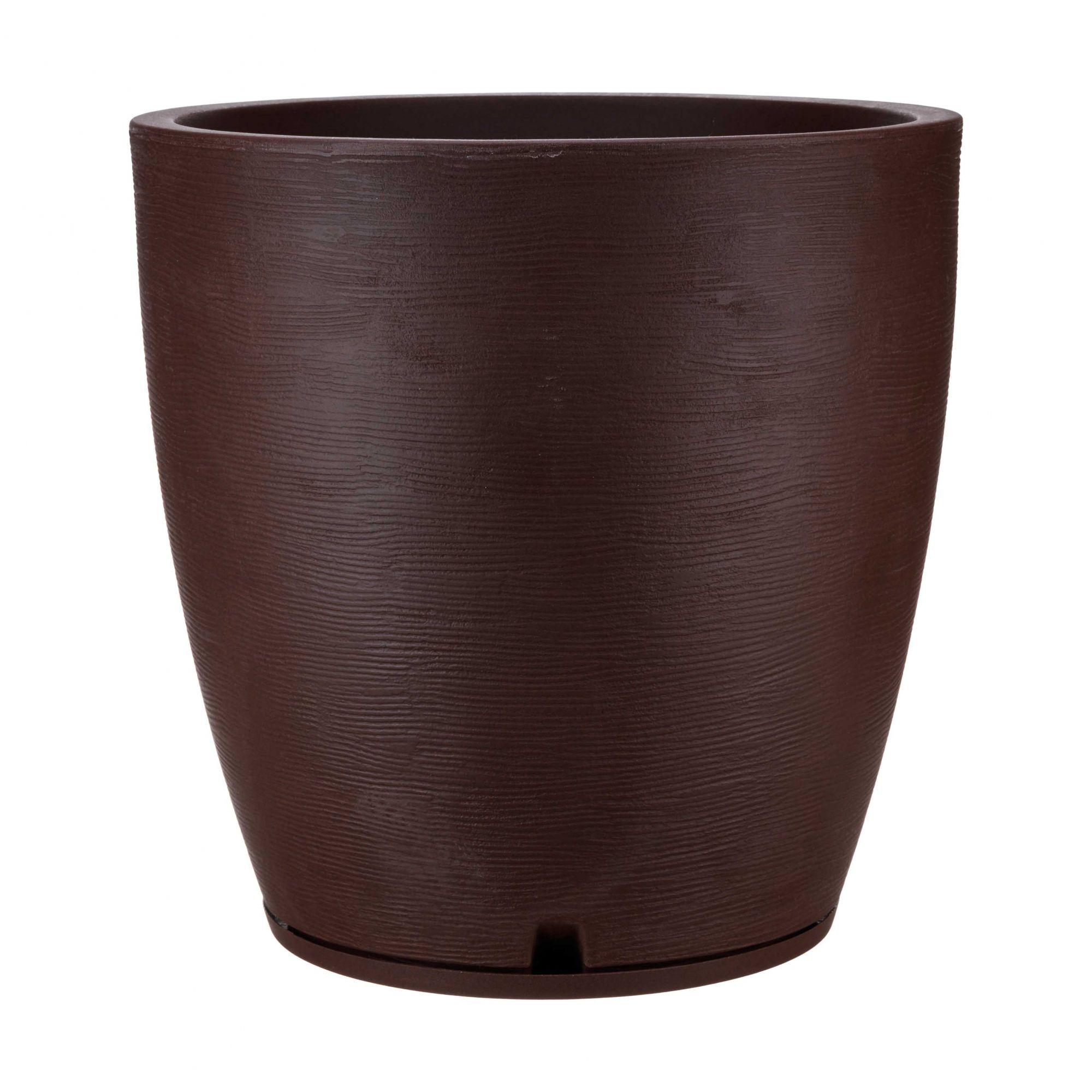 Vaso Amsterdã Grafiato Marron Stone - 49 x 55 cm