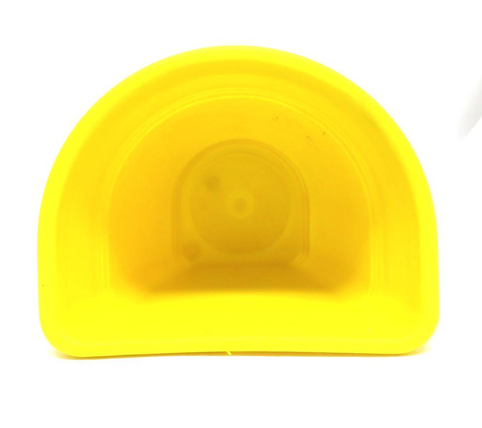 Vaso Plástico para Parede Vicenza Pequeno Amarela 15 - DL