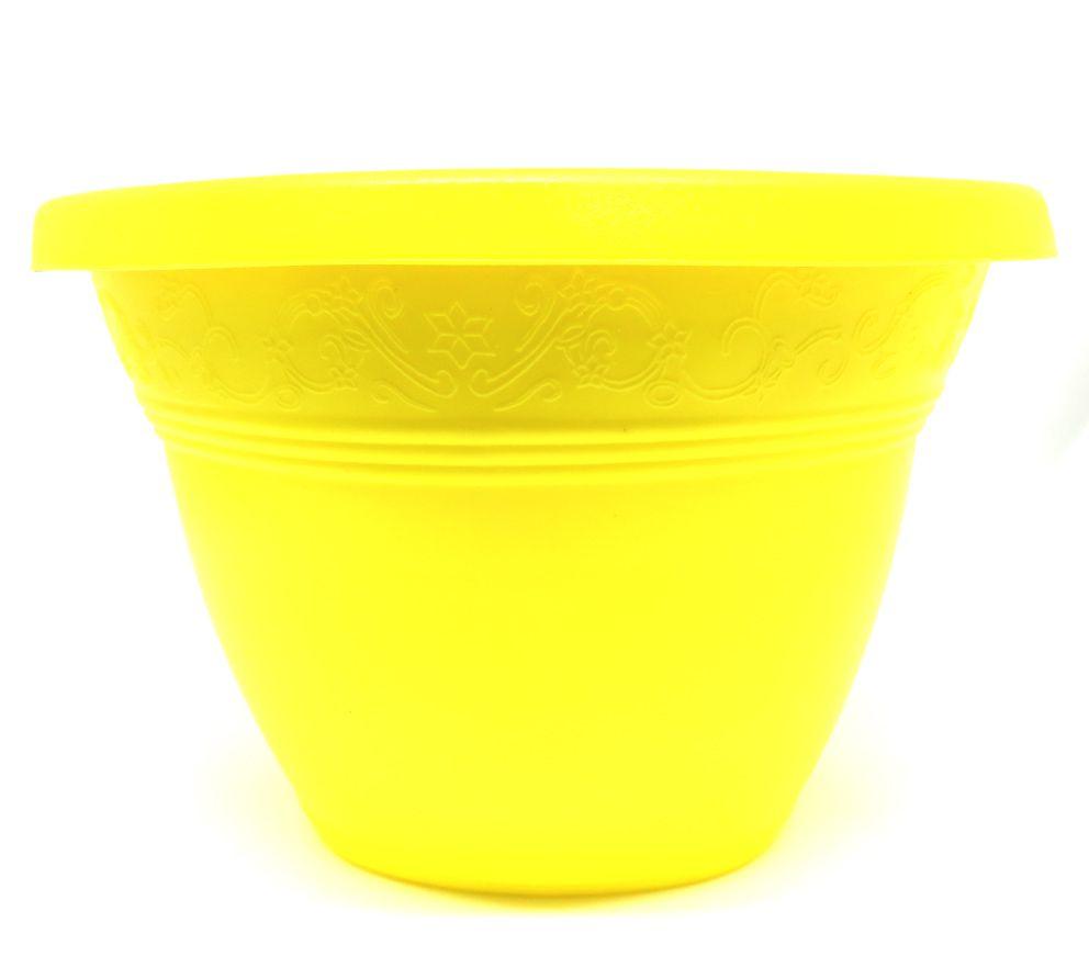 Vaso Plástico para Parede Vicenza Amarela Médio 23cm - DL