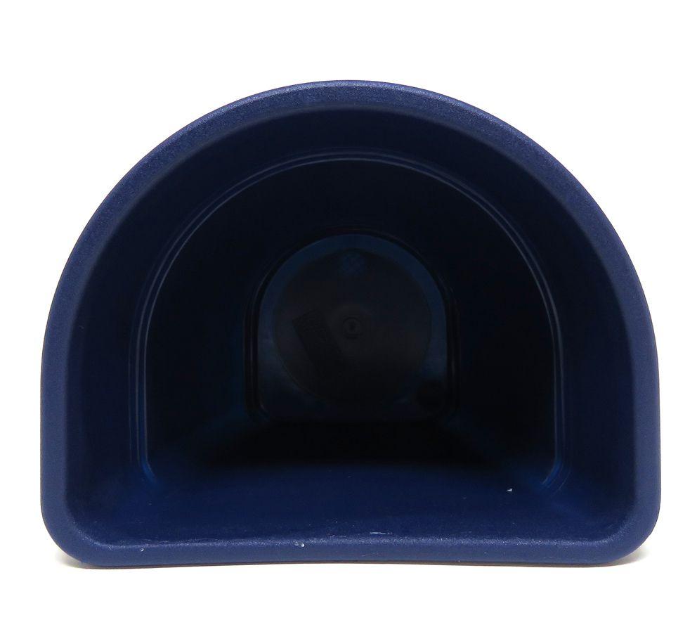 Vaso Plástico para Parede Vicenza Azul  Pequeno 15cm - DL