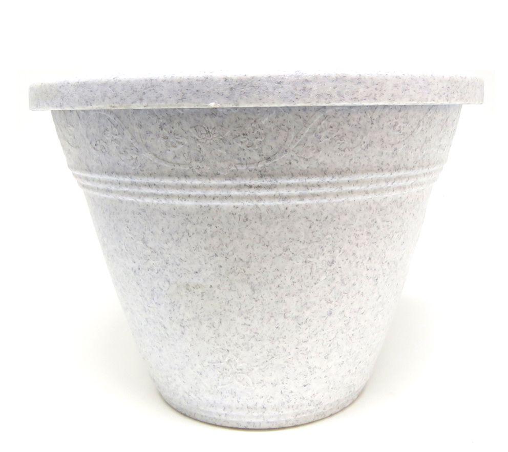 Vaso Plástico para Parede Vicenza Granito Pequeno 15cm - DL