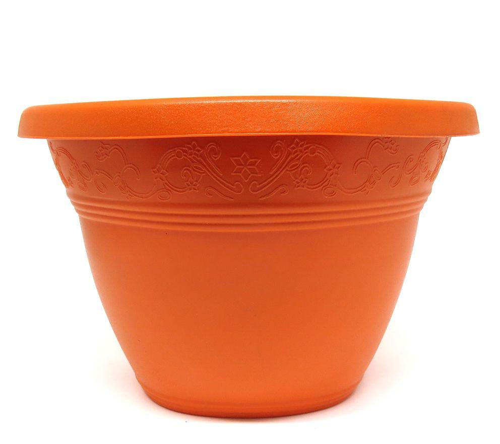Vaso Plástico para Parede Vicenza Laranja  Médio 23cm - DL