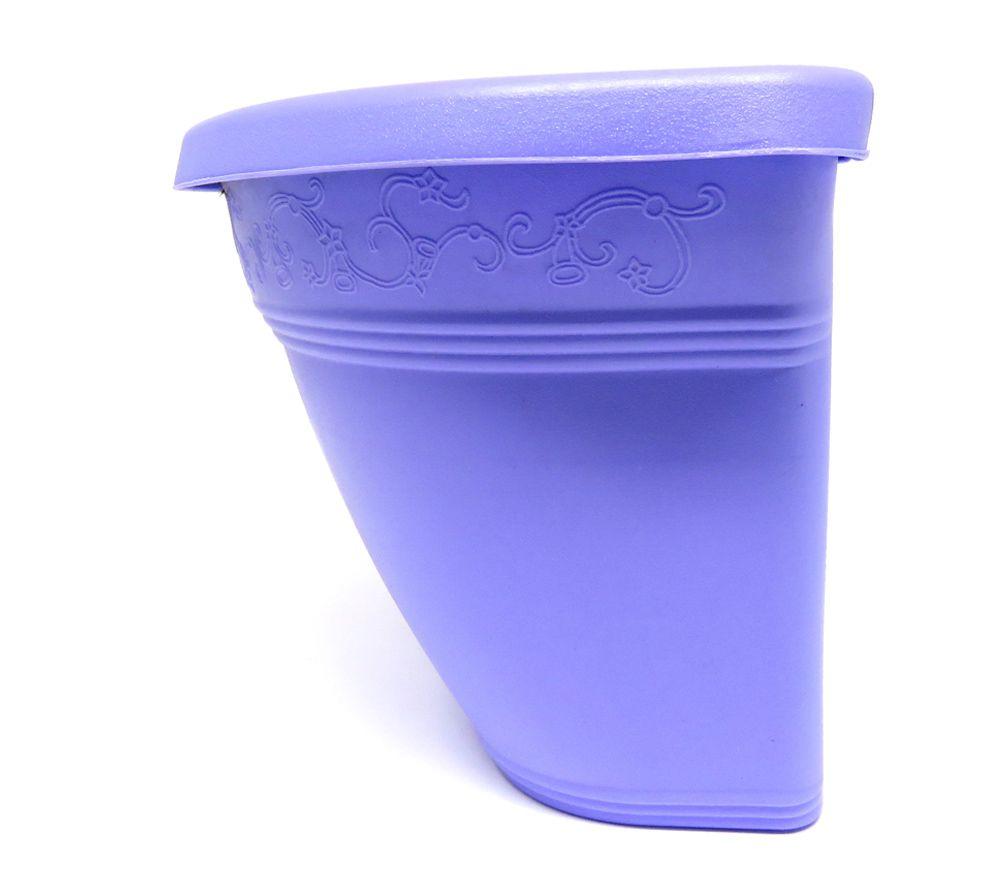 Vaso Plástico de Parede Vicenza Lilás Médio 23cm - DL