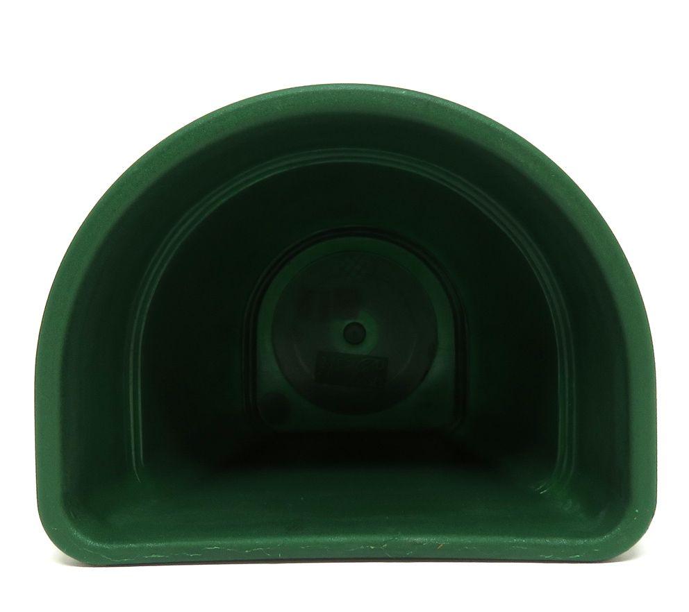 Vaso Plástico para Parede Vicenza Verde Pequeno 15cm - DL