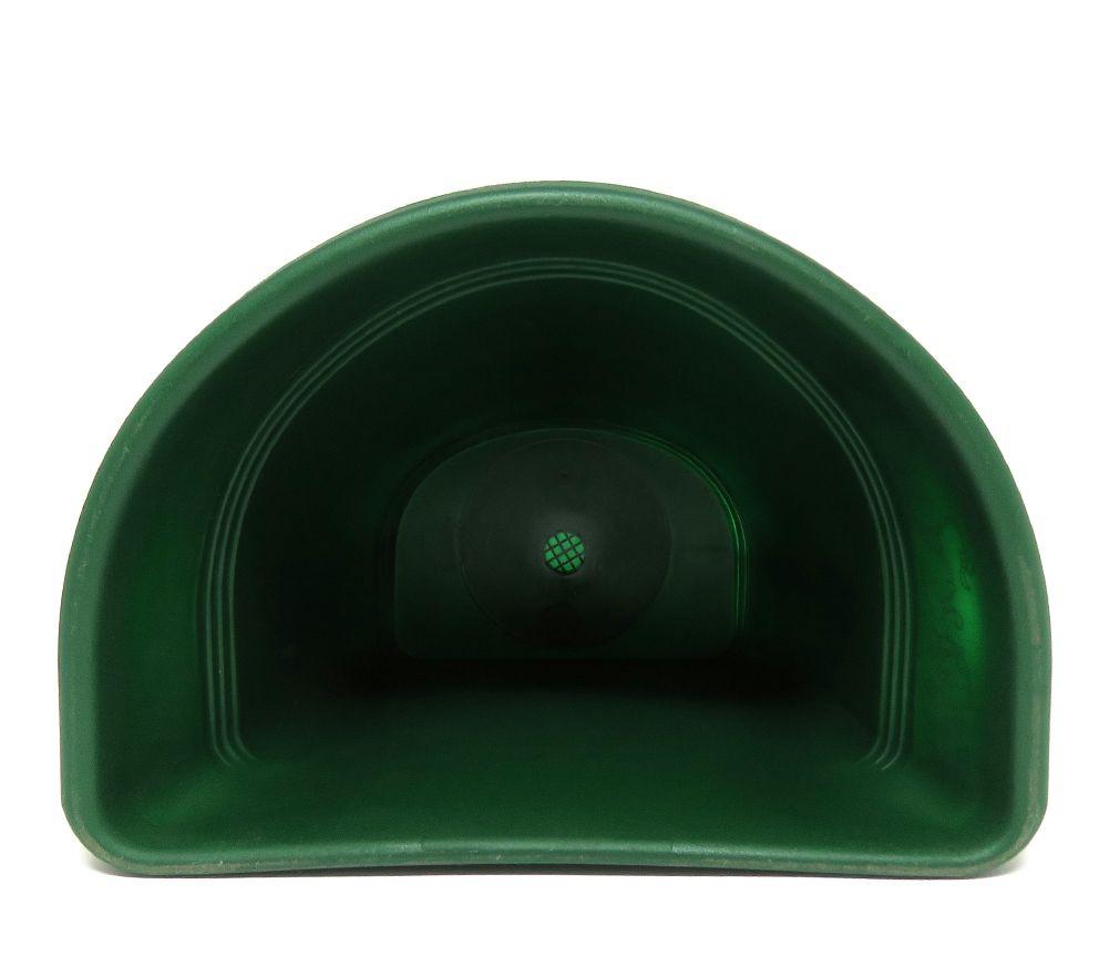 Vaso Plástico para Parede Vicenza Verde Médio 23cm - DL