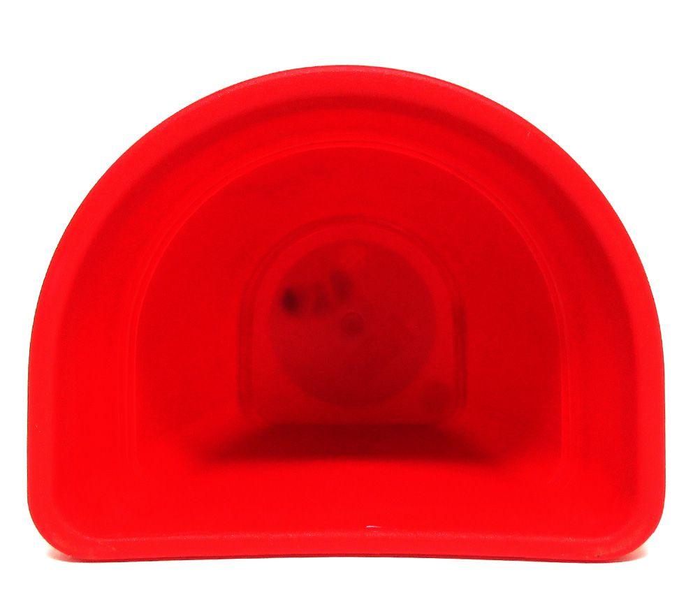 Vaso Plástico de Parede Vicenza Vermelho Pequeno 15cm - DL