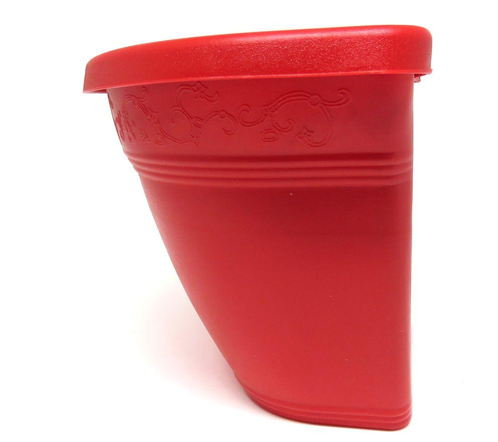 Vaso Plástico para Parede Vicenza Vermelho Médio 23cm - DL