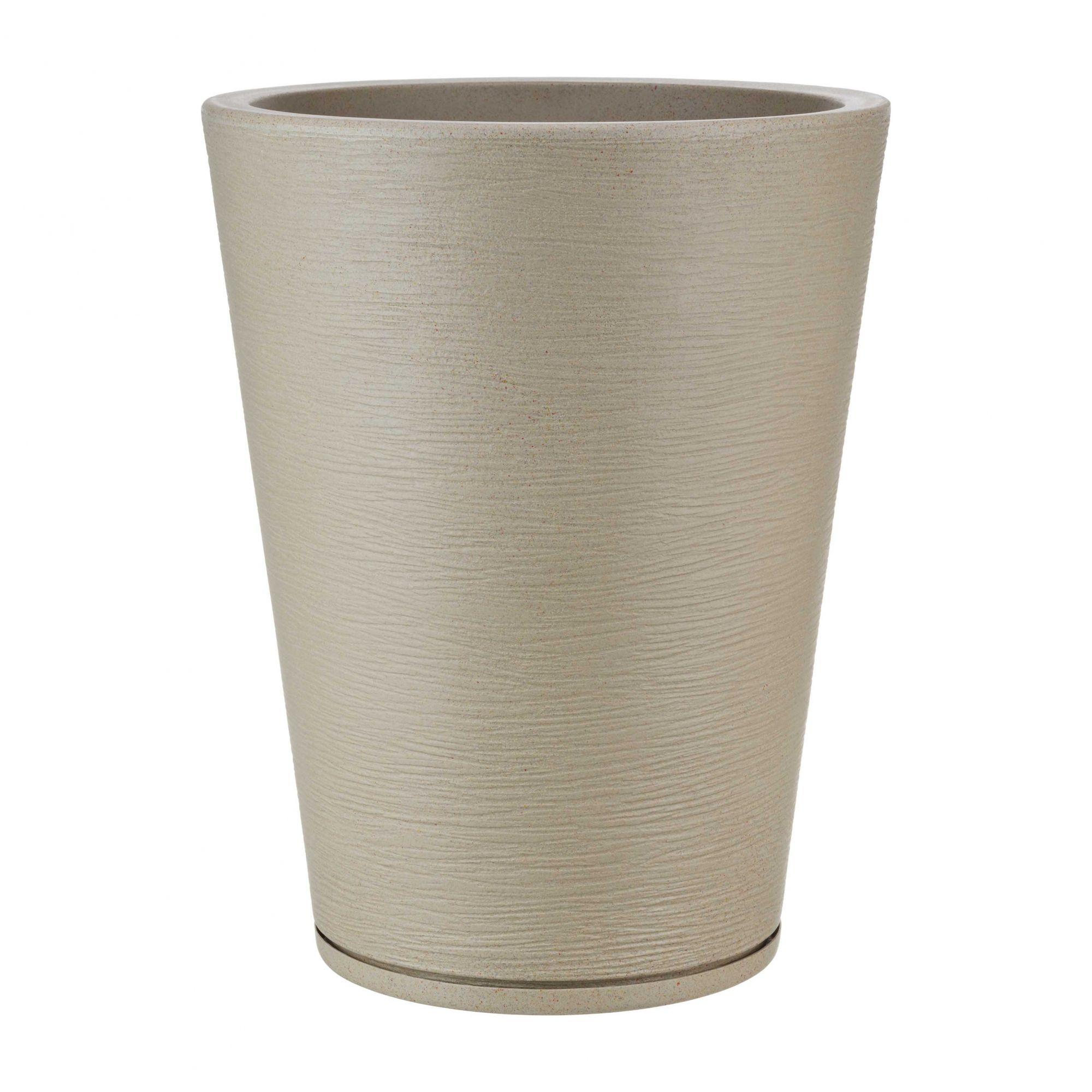Vaso Genebra Grafiato Bege Stone - 38 x 57 cm
