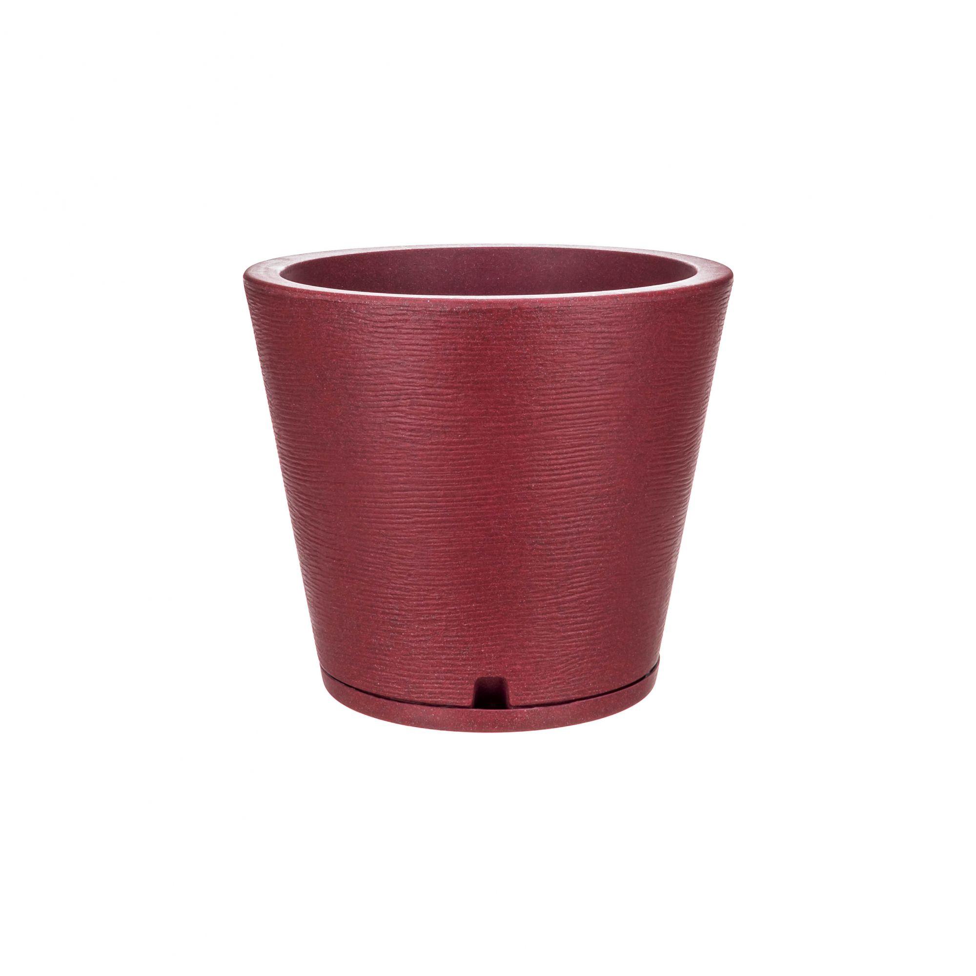Vaso Genebra Grafiato Vinho Stone - 34 x 35 cm