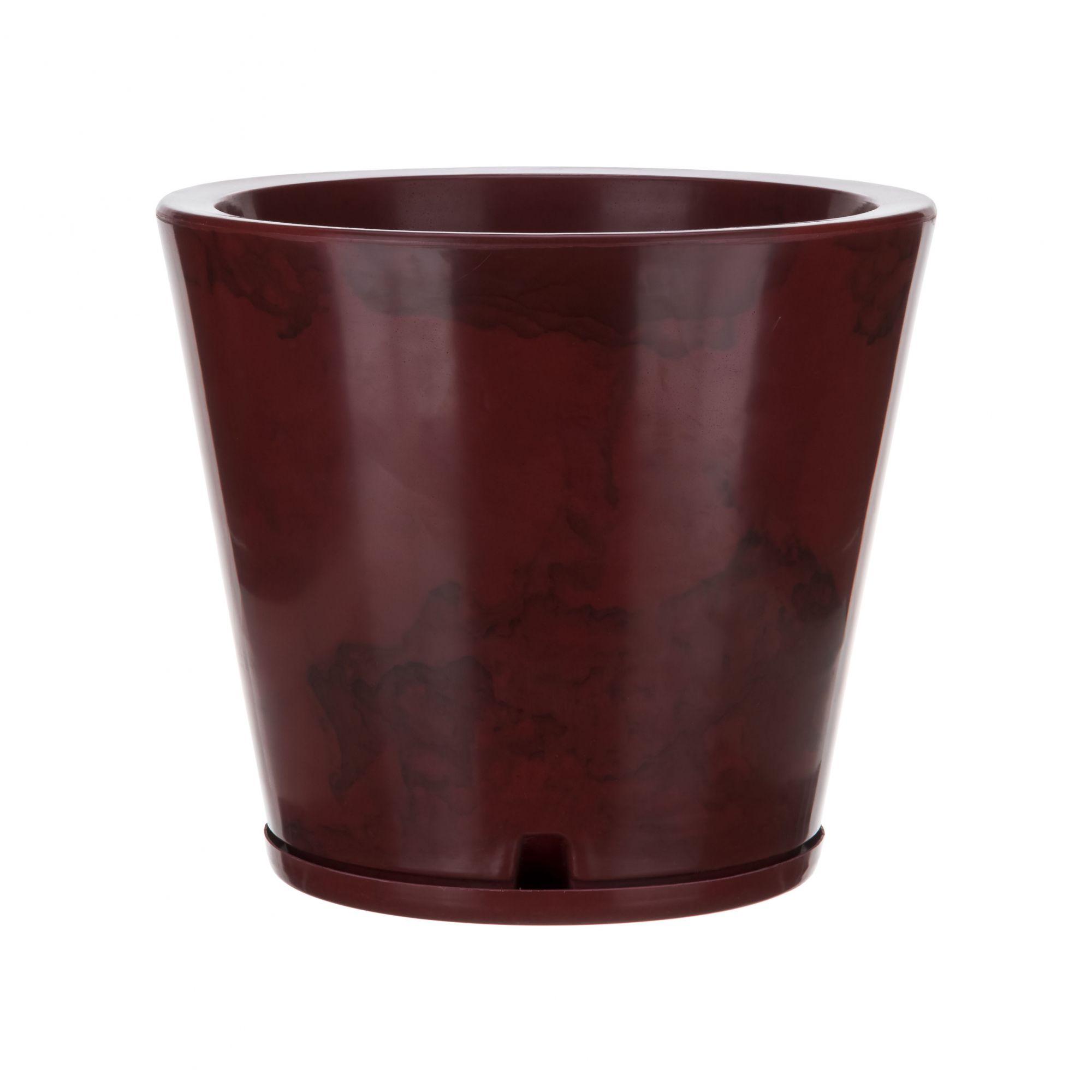 Vaso Genebra Marmorato Vermelho - 34 x 35 cm