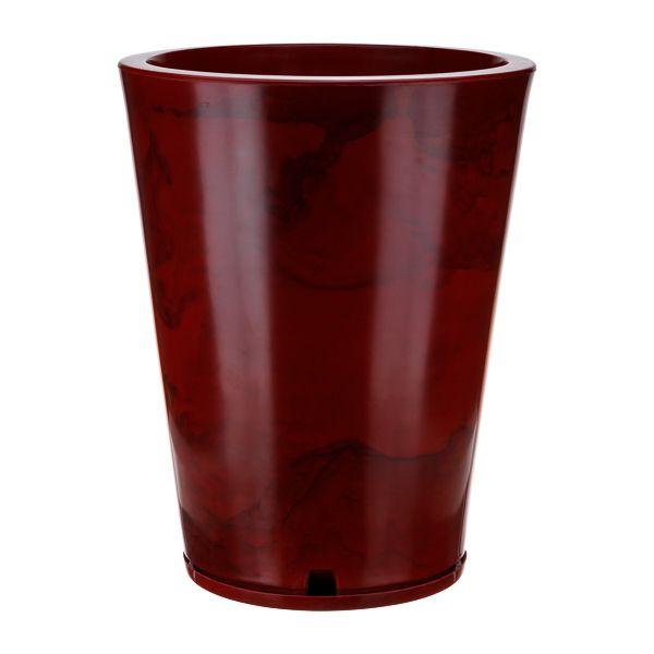 Vaso Genebra Marmorato Vermelho - 38 x 57 cm