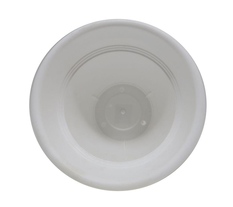Vaso Plástico Vicenza Branco Médio 19cm - DL