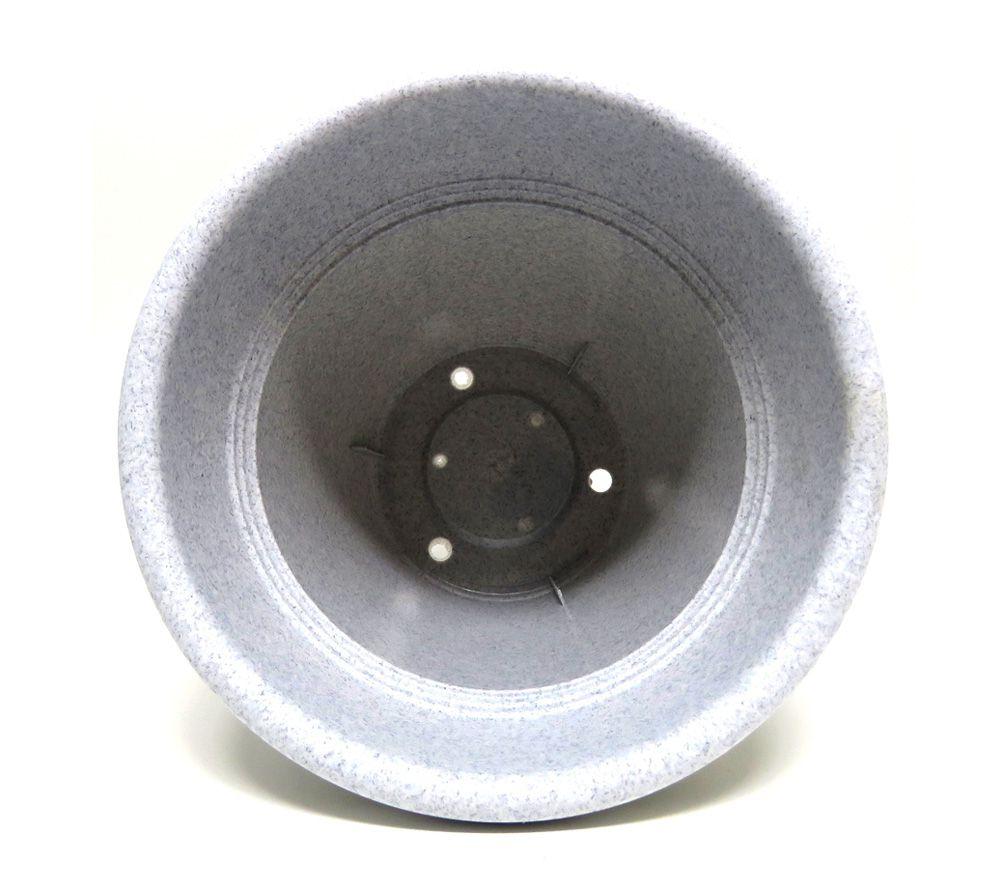 Vaso Plástico Vicenza Granito Médio 19cm - DL