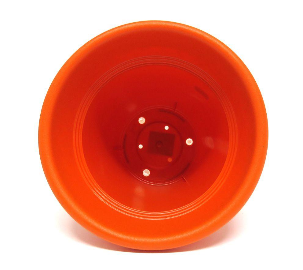 Vaso Plástico Vicenza Laranja Médio 19cm - DL