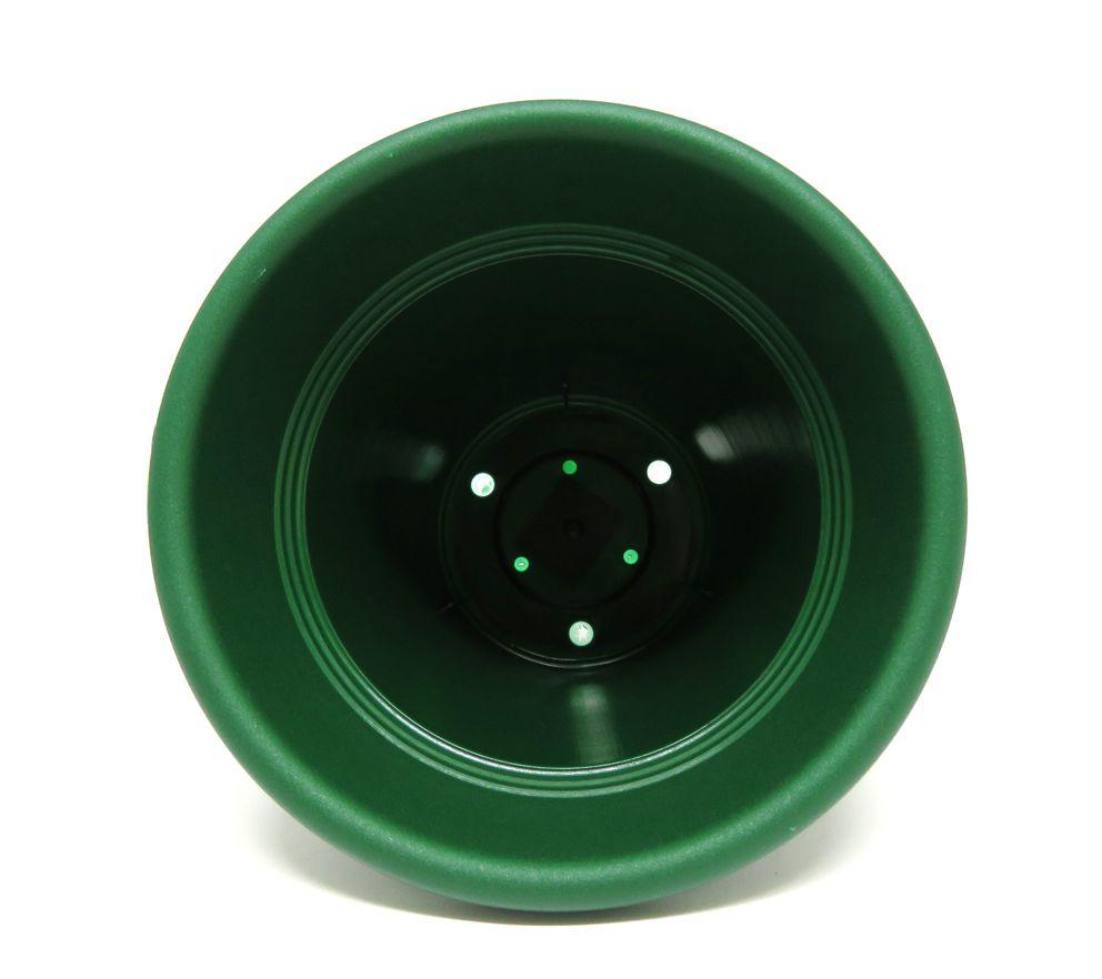 Vaso Plástico Vicenza Verde Médio 19cm - DL