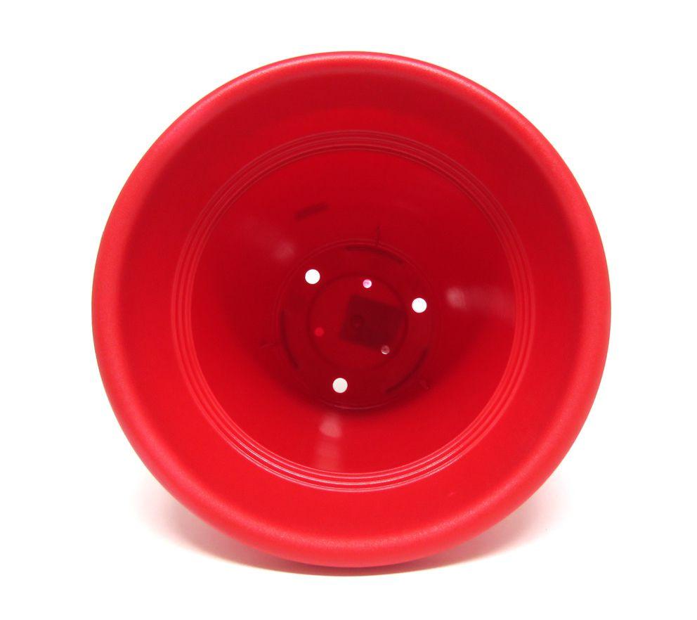 Vaso Plástico Vicenza Vermelho Médio 19cm - DL