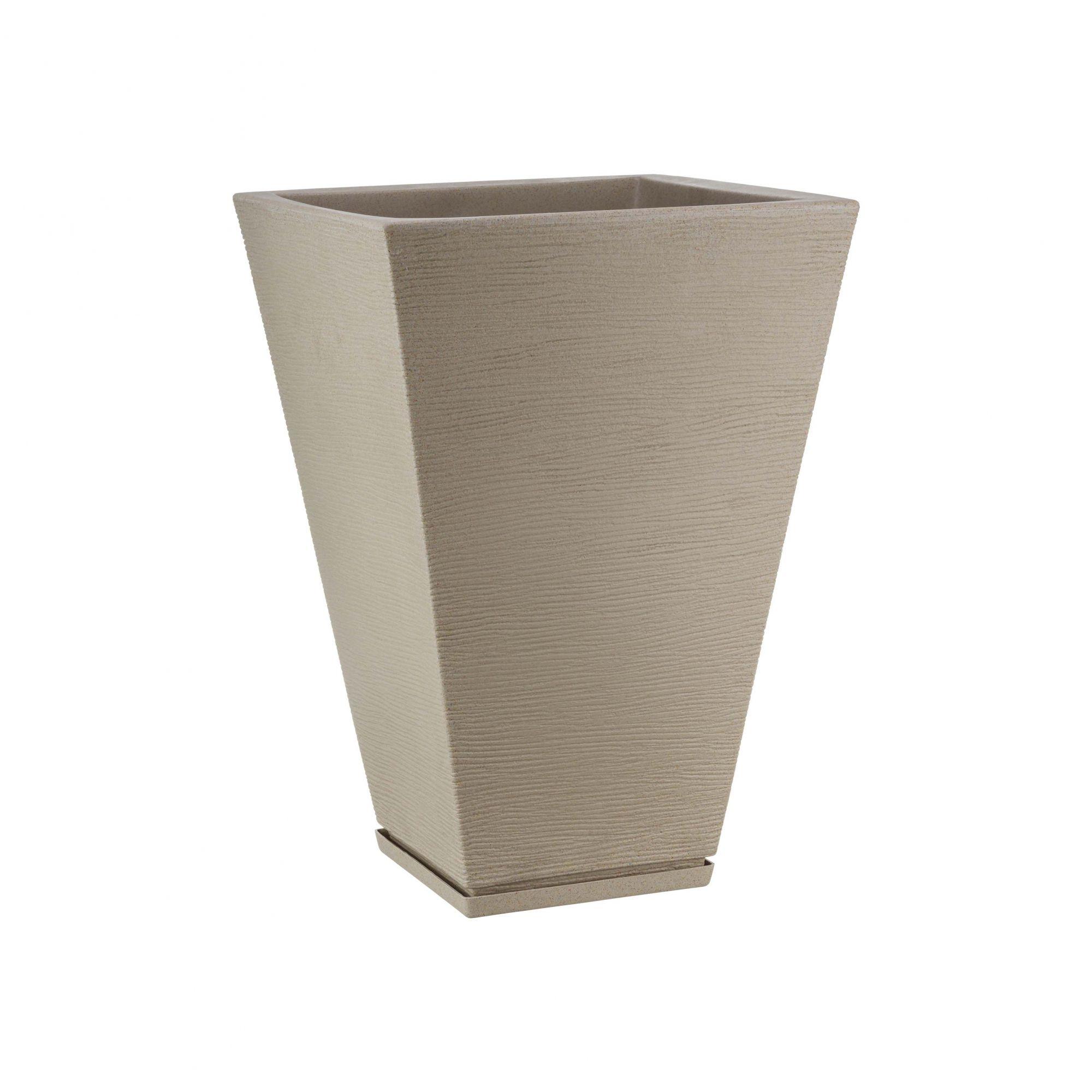 Vaso Zurique Grafiato Bege Stone - 32cm x 55cm