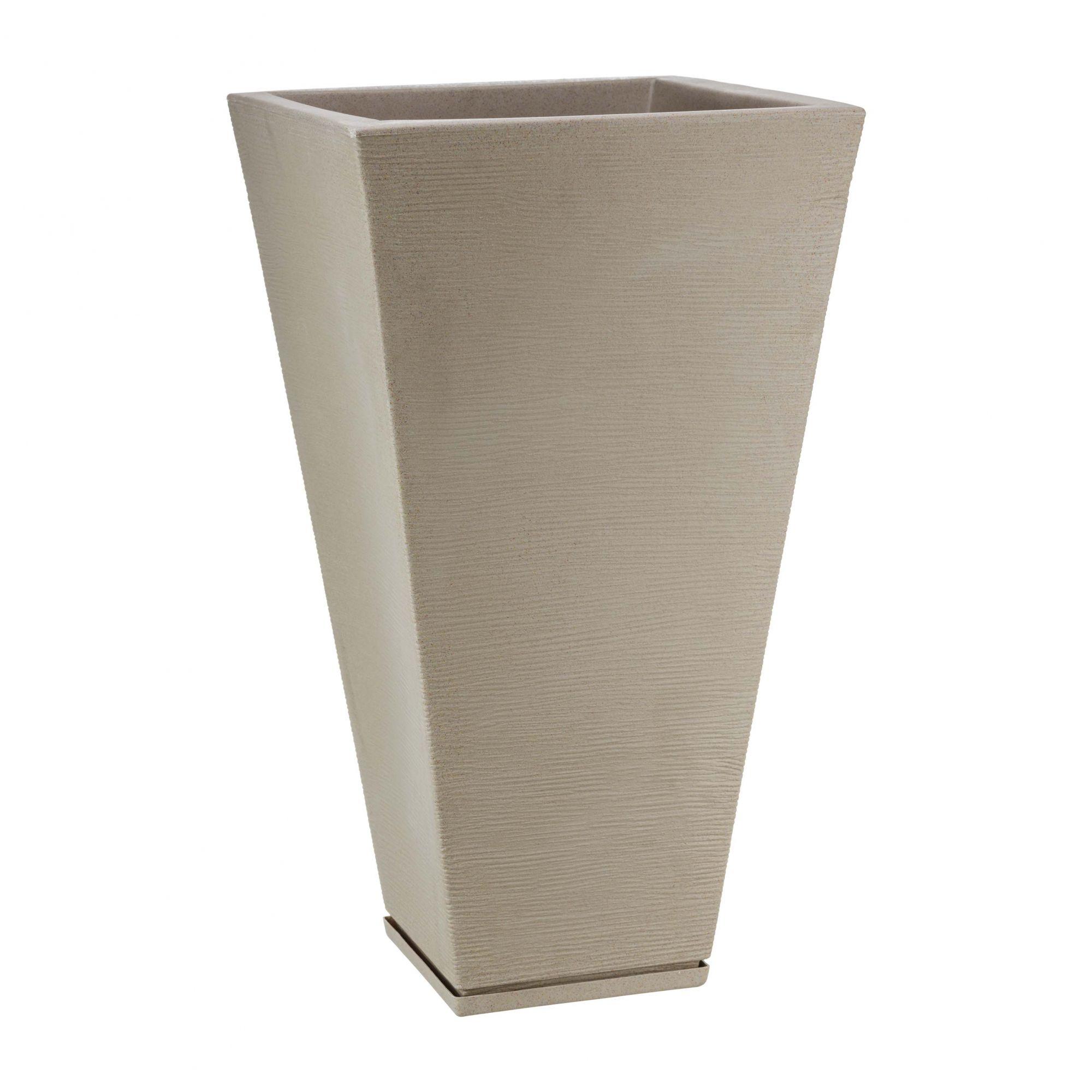 Vaso Zurique Grafiato Bege Stone - 35cm x 74cm