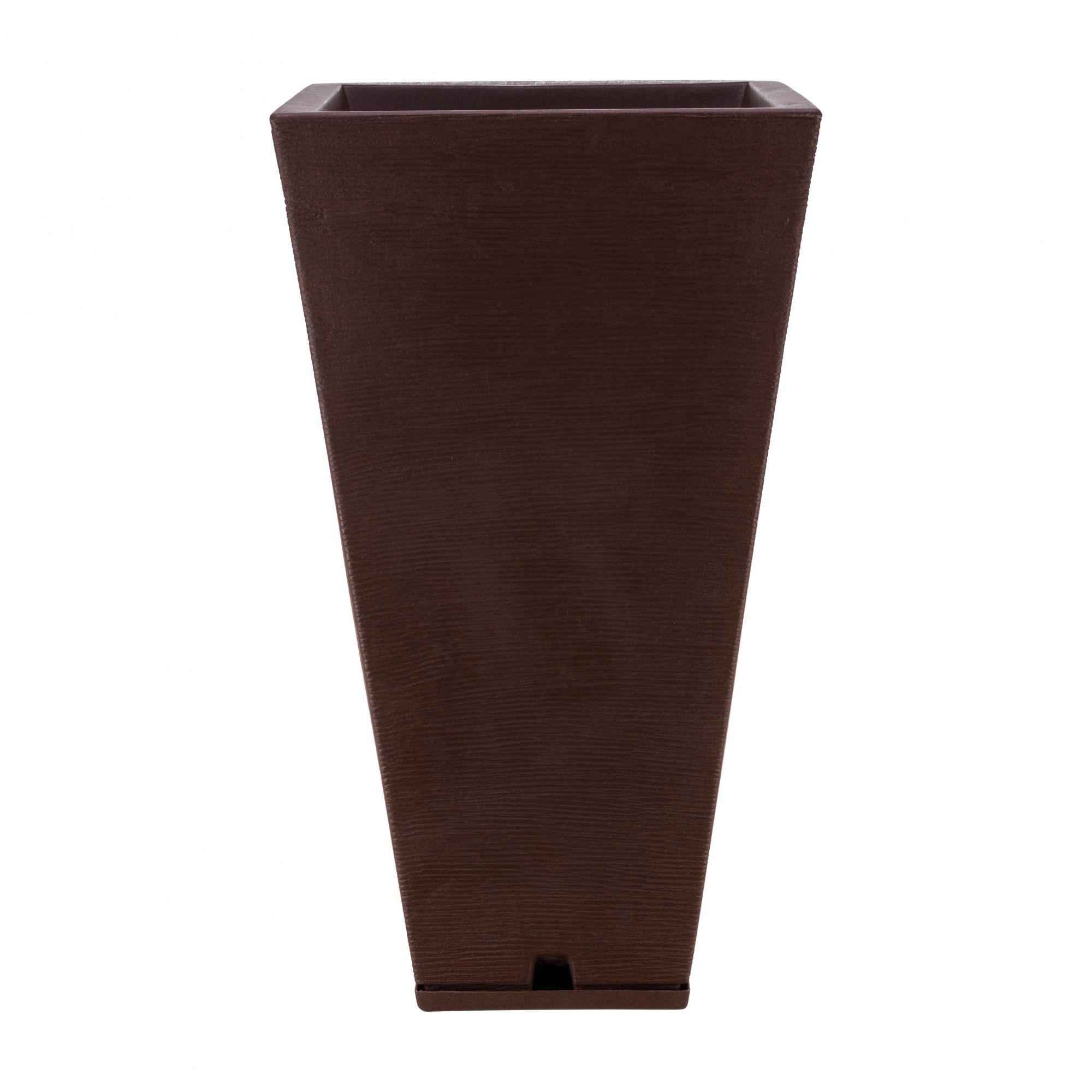 Vaso Zurique Grafiato Marron Stone - 35cm x 74cm