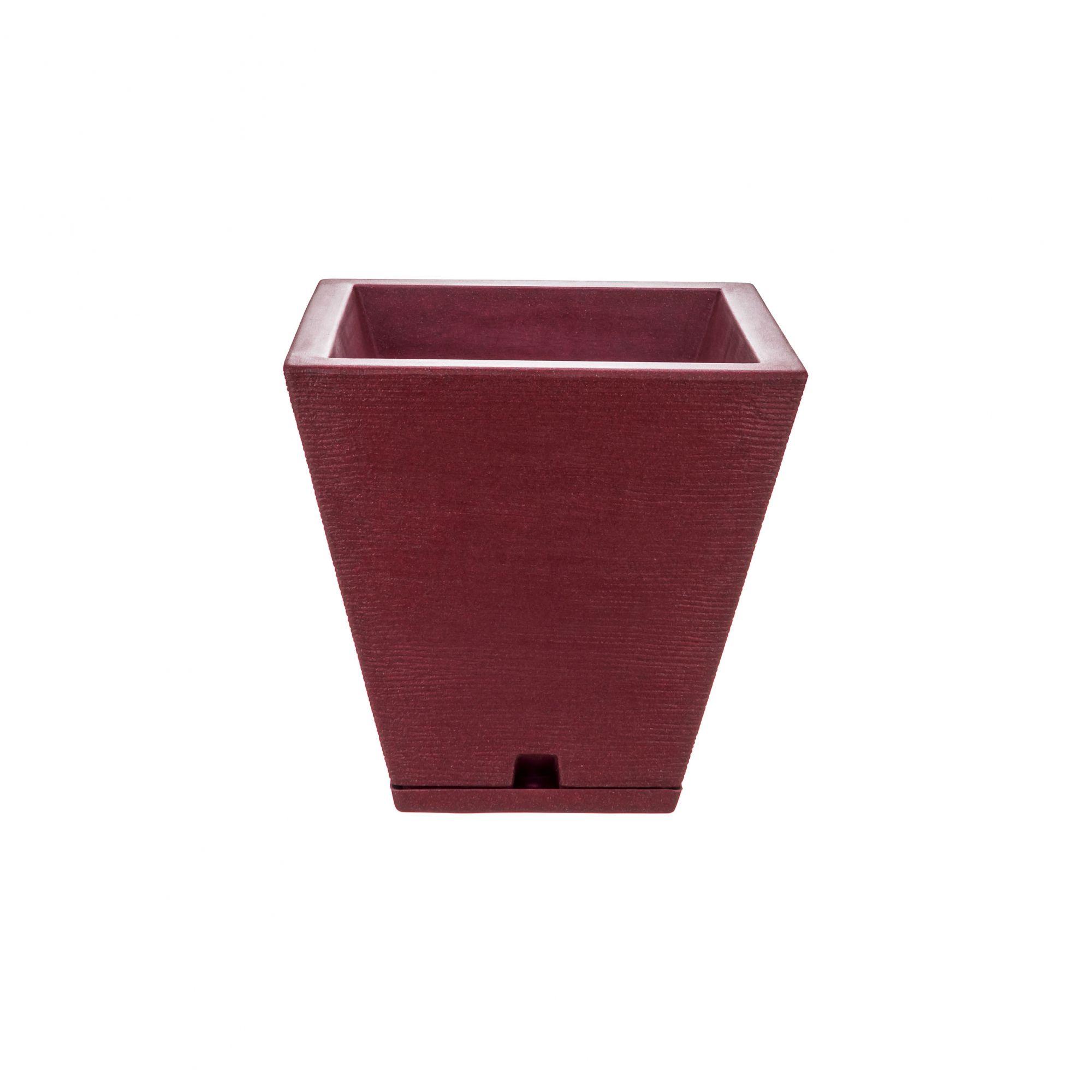 Vaso Zurique Grafiato Vinho Stone - 29cm x 34cm
