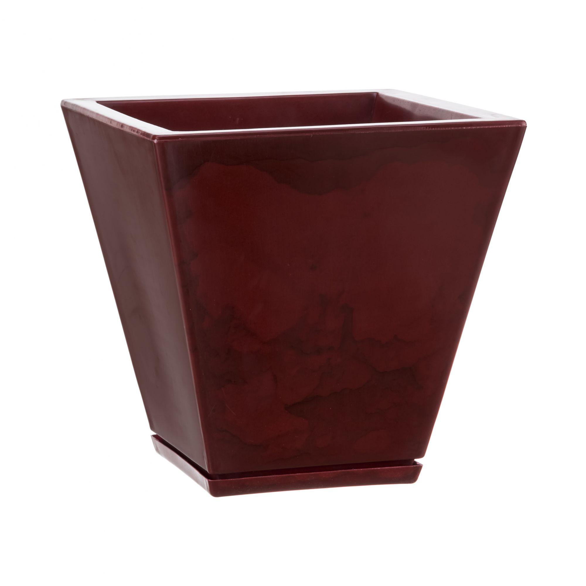 Vaso Zurique Marmorato Vermelho- 29 x 34cm