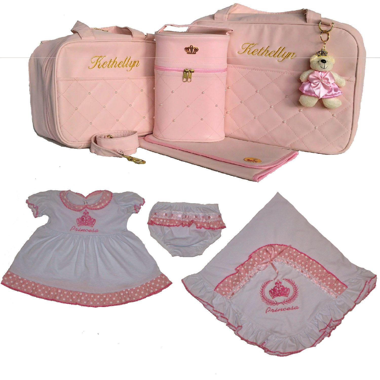 f9842f96d4 Bolsa New + Saída Maternidade Menina Menino Personalizada - Gaby ...